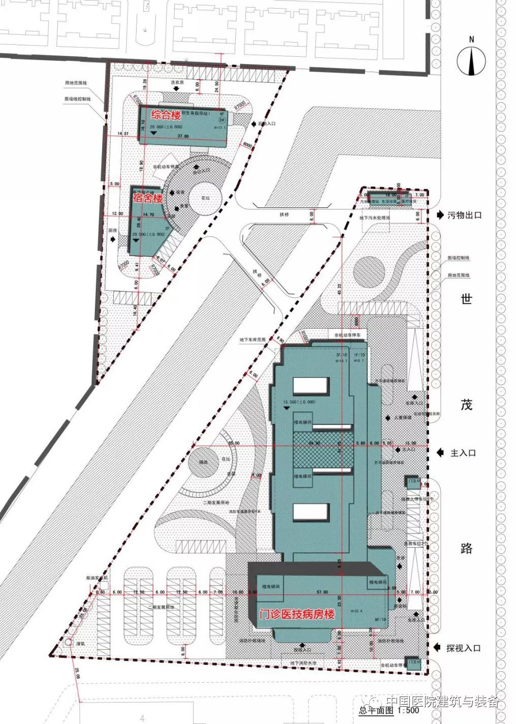 医院项目总平面图