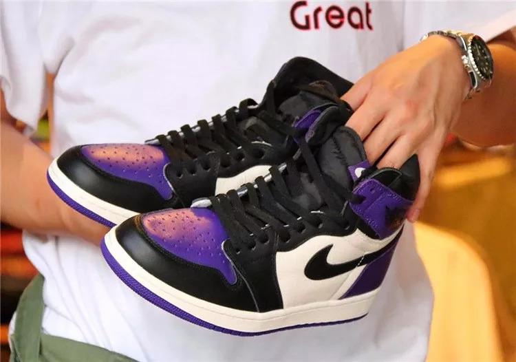 AJ1 黑紫脚趾来了
