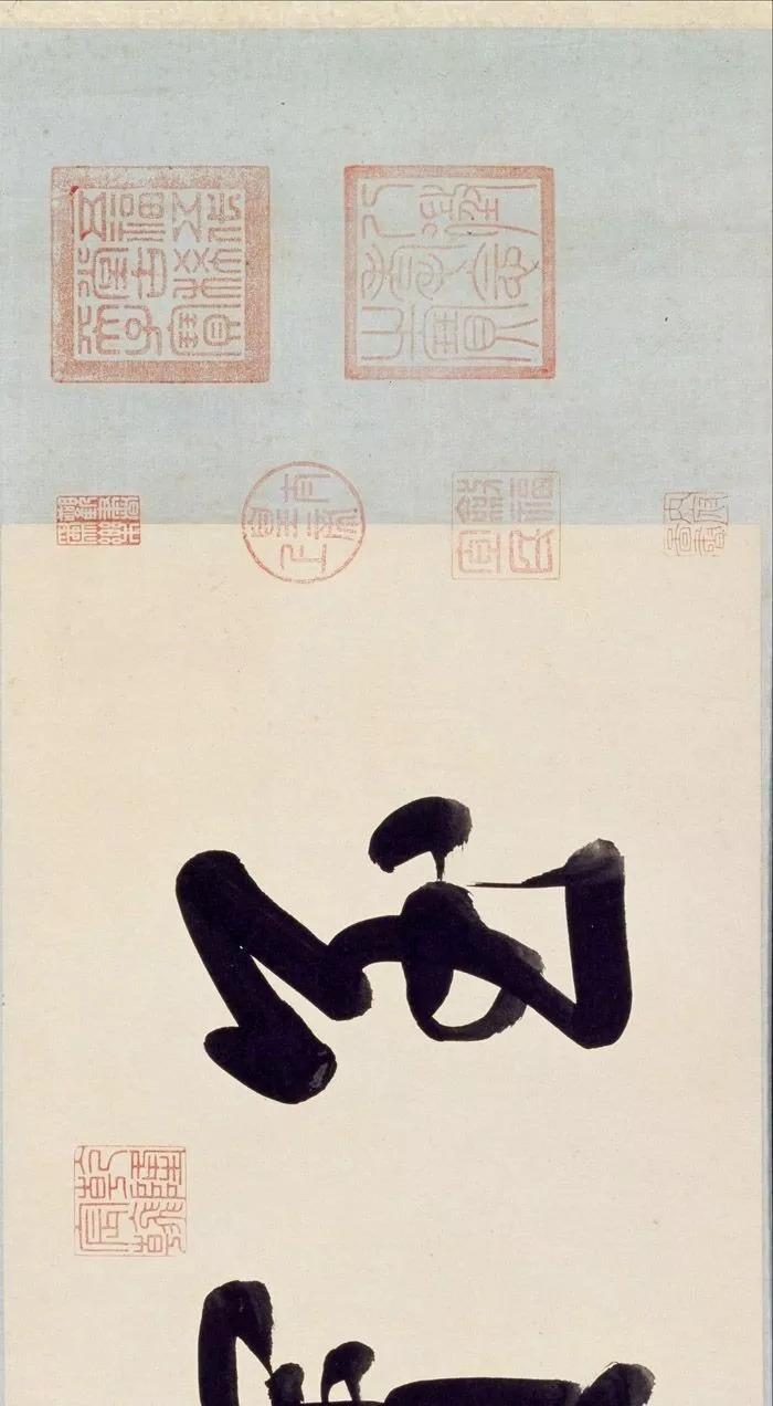 卡通中秋节赏月场景