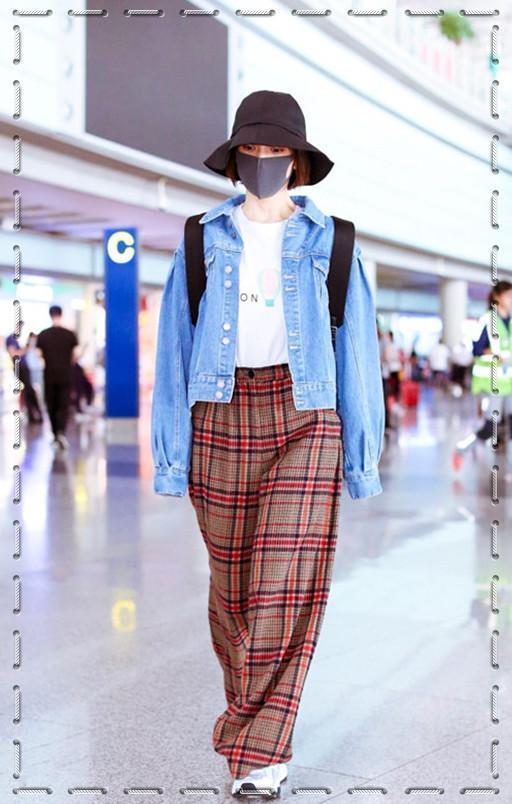 吴昕也太高估自己了!160身高穿拖地长裤,网友:还是换回裙子吧
