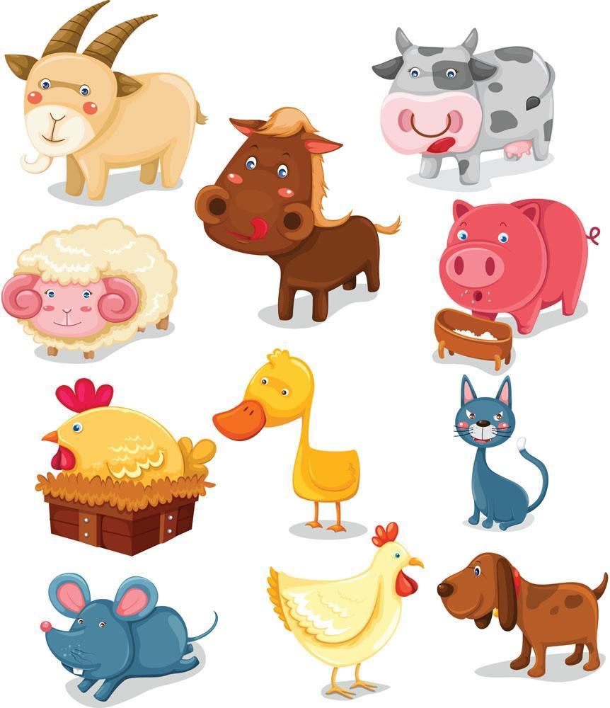 平面图形组成的小动物