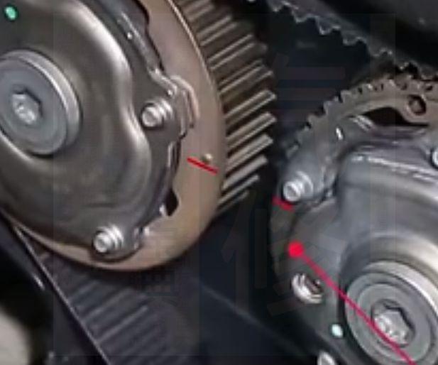 别克雪佛兰发动机正时皮带安装示意图