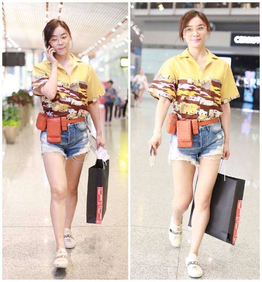 同为31岁的袁姗姗刘诗诗杠上了?同款衬衫却穿出少女职场两种风格
