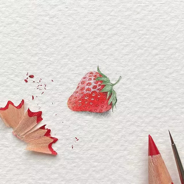 彩铅蛋糕图片手绘