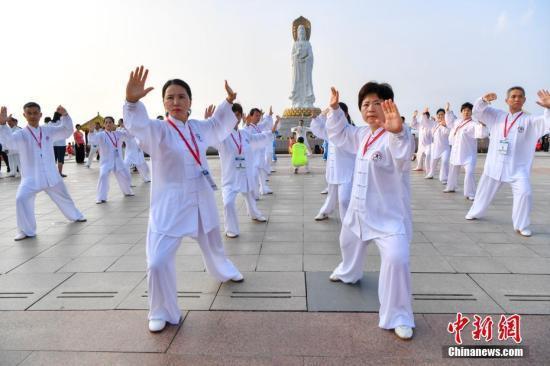 天下太极文化节三亚开幕 海内外300位太