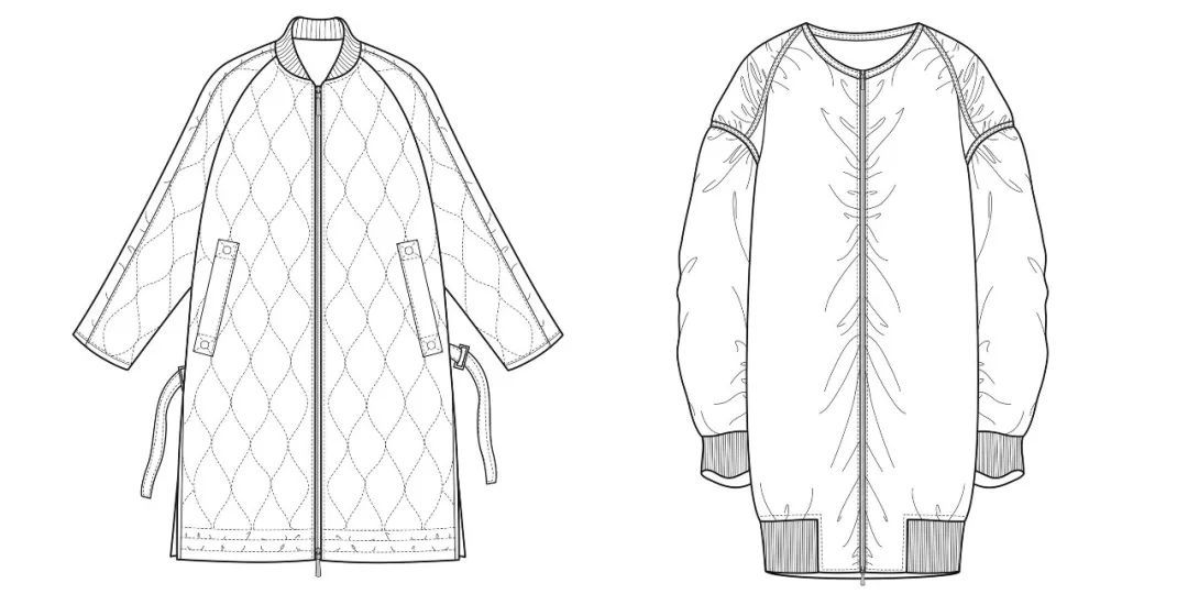 女装款式图合集礼包 | 女士风衣,小外套,西装,衬衫,羽绒服,针织毛衫