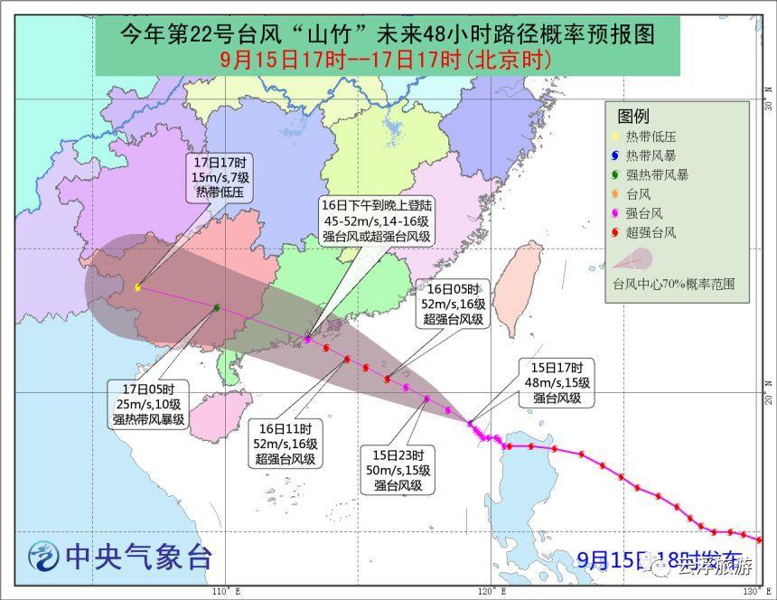 山竹 登陆时间提前 出门在外要学会这些防台风小知识