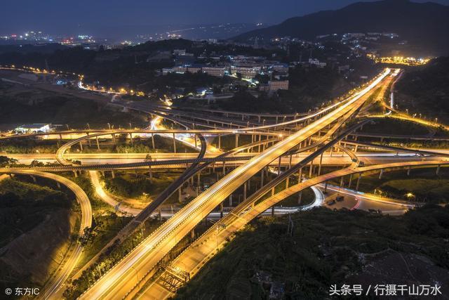 航拍重庆的立交桥