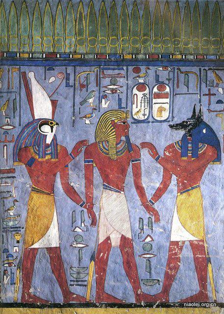 法老与艳后,尽显古埃及壁画之活色生香.