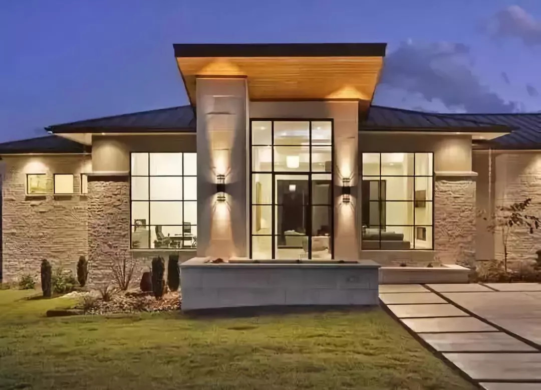 30款圆弧岁月,惊艳你慵懒的灯光!庭院别墅造型落地窗图片