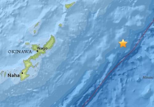 日本冲绳附近海域发生5.1级地震 震源深度10公里