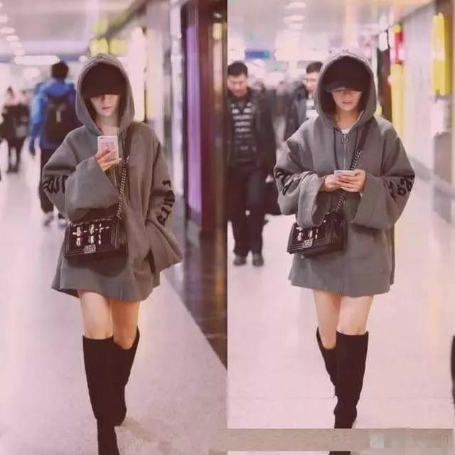 """杨紫又调皮了,穿""""男友卫衣""""不说,手机壳上的字更吸睛!"""