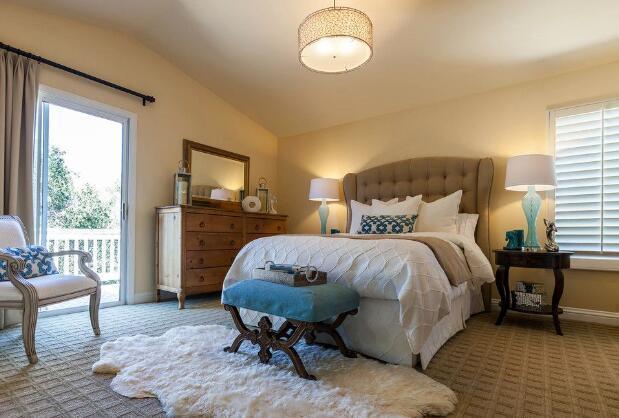 美式小户型卧室装修效果图一图片