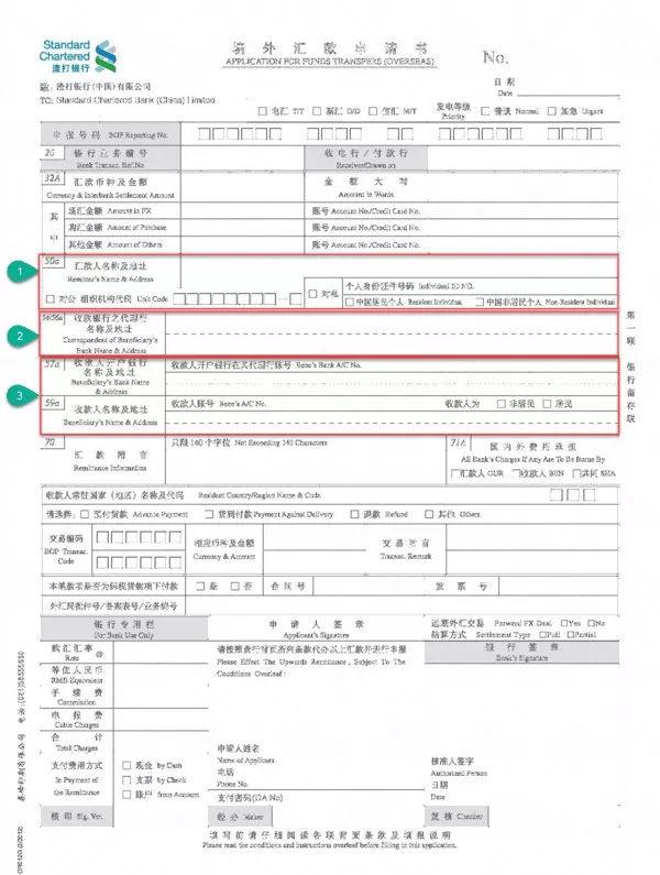 国际汇款申请书到底要怎么填