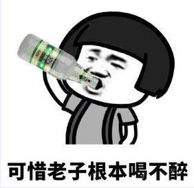 喝酒表情包:我只吹瓶,请不要用杯侮辱我图片