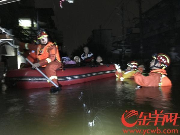 广东省各地消防已营救群众1418人、疏散6569人