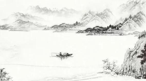 一叶孤舟上,一位身披蓑衣头戴斗笠的渔翁,独自在漫天风雪中垂钓.