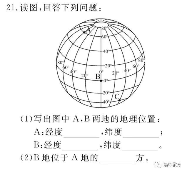 经纬网_七上地理第2课 经度和纬度,利用经纬网定位!可打印共享版