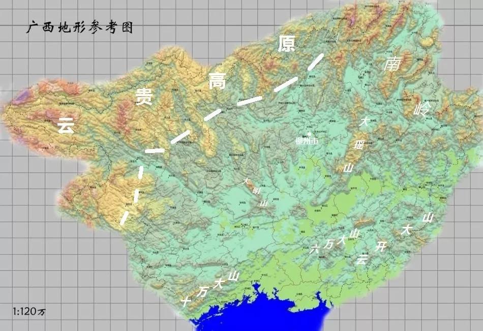地�_平地:主要分布在中部,南部.广西平原主要有