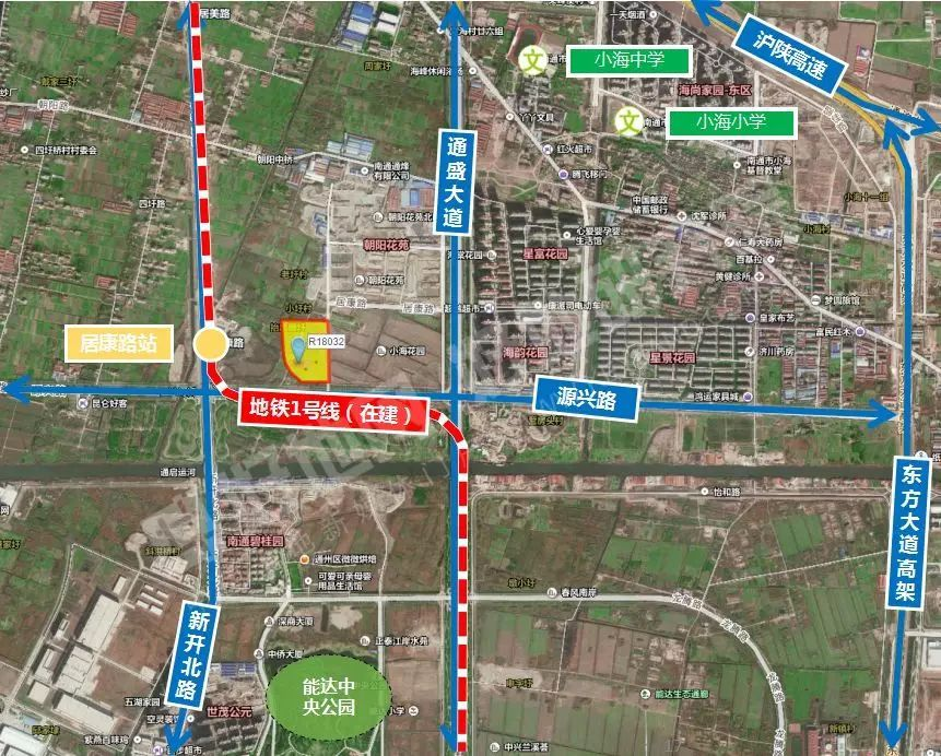 地块位于南通市中央创新区,北至青年路,西至通富路,南至源兴路,东至