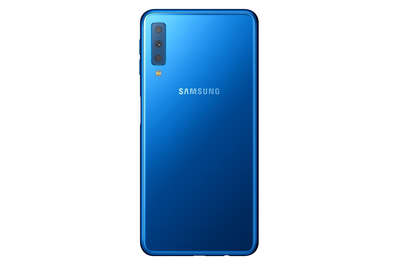 三星正式发布了中端新机Galaxy A7(2018) 配备后置三摄机型