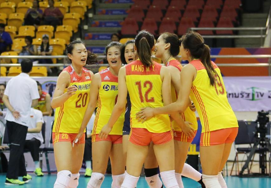 央视CCTV5+频道直播女排亚洲杯半决赛甄诚解说中国对阵泰国