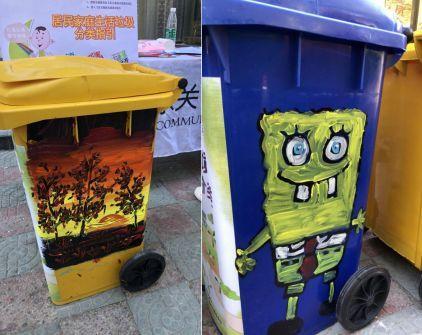 搞笑 正文  如果垃圾桶的设计 与周围环境融为一体 并且和谐雅致有趣图片
