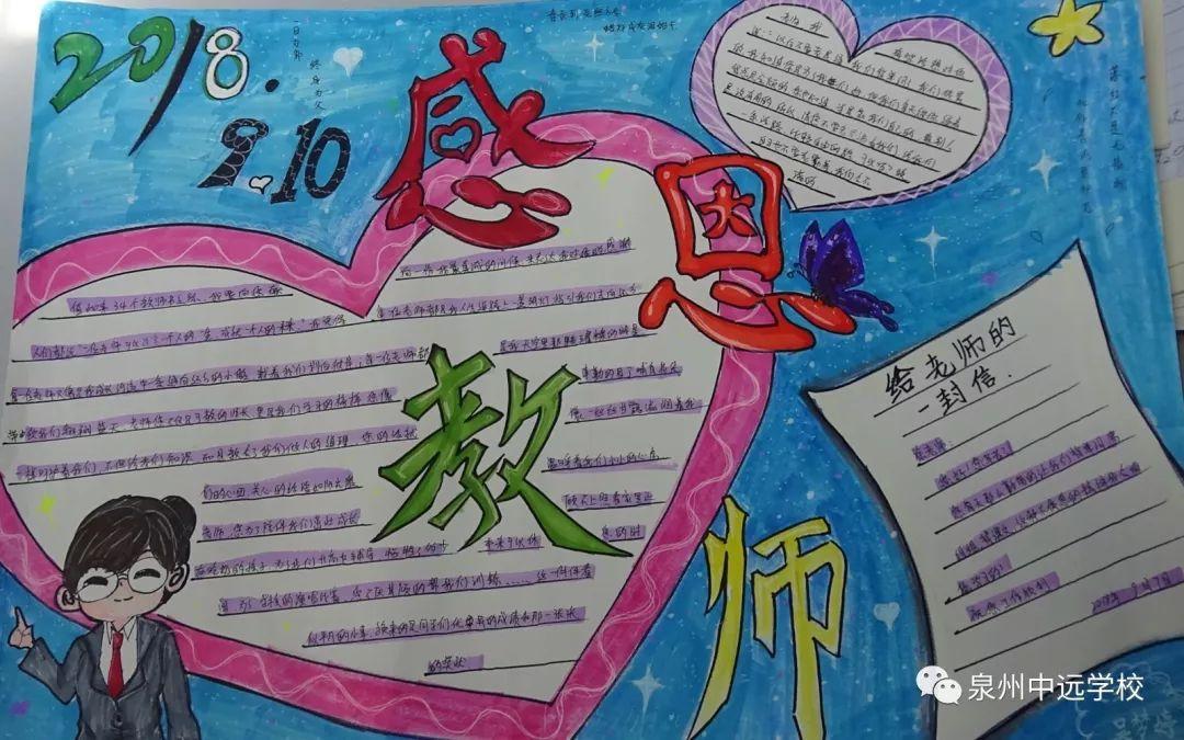 感念师恩·奋发笃行 ——我校举行庆祝第34个教师节手抄报评展活动