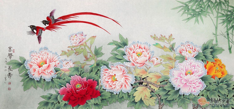 国画牡丹图 当代花鸟名家手绘牡丹作品欣赏