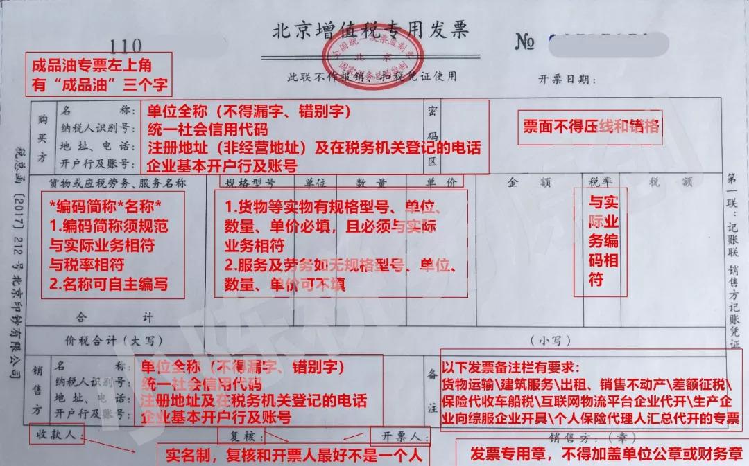 增值税发票填写标准 来源:青岛会计信息,税来税往