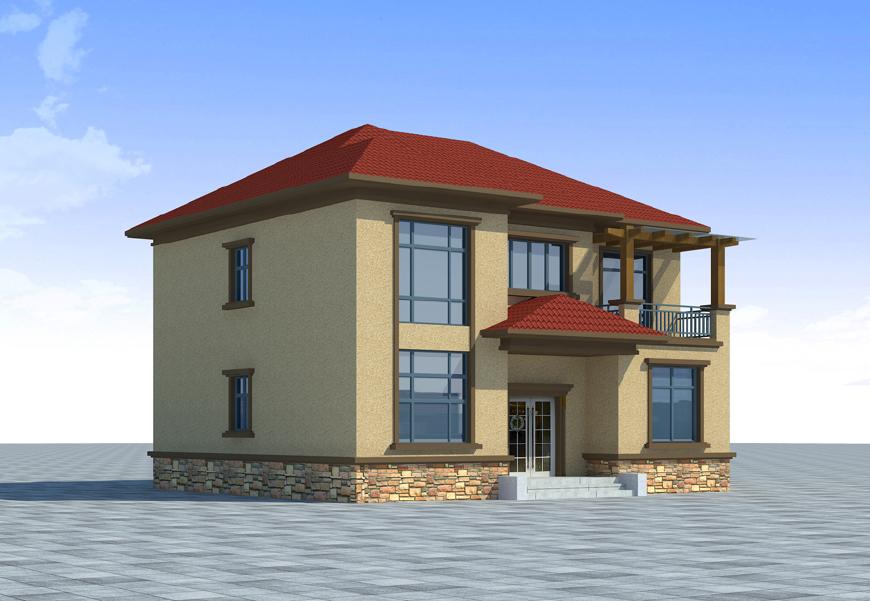 农村120平方三层自建房子图纸,稳重大气,造价只需20万元