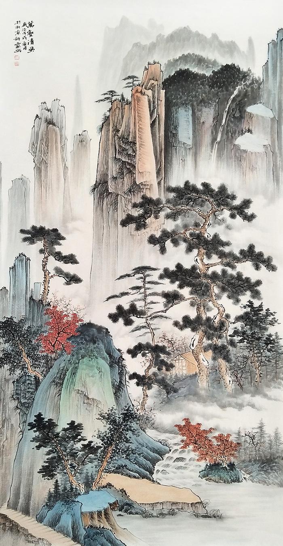 李佩锦仿古国画欣赏 国画山水景色美丽雅致非凡