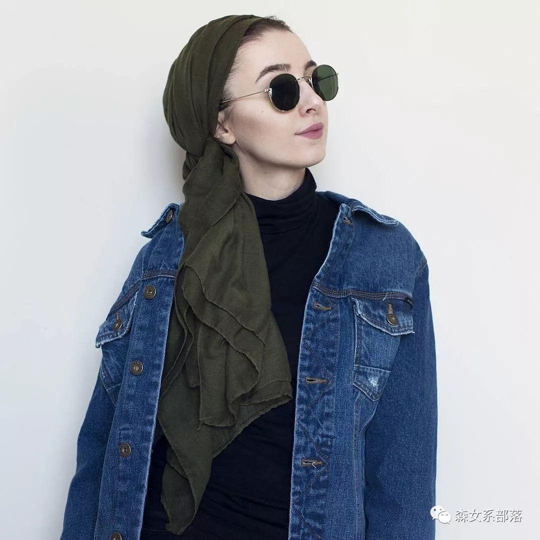 沙特女人头巾戴法