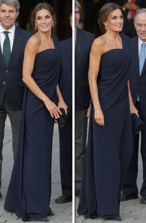 二婚嫁国王果然不简单!西班牙王后穿12万块露肩长裙比梅根还惊艳