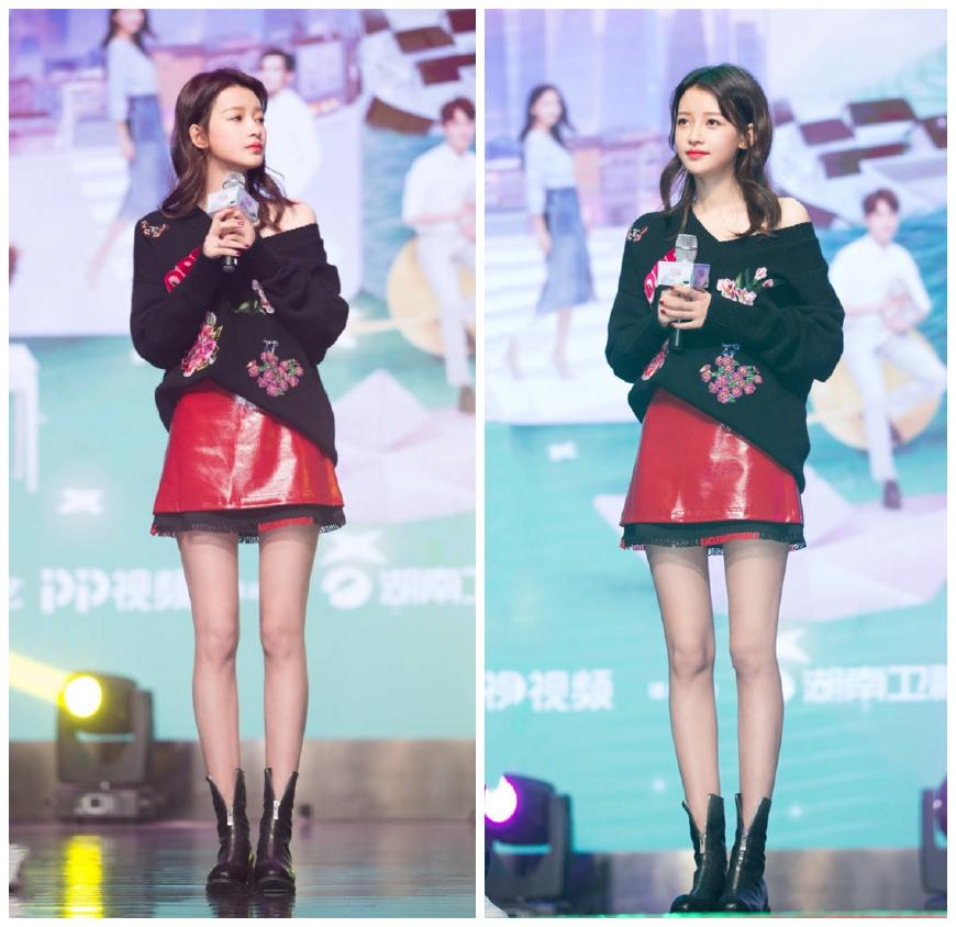同穿1万8的针织衫,郑秀妍戴墨镜扮酷,却被辣妈孙怡的少女感反超