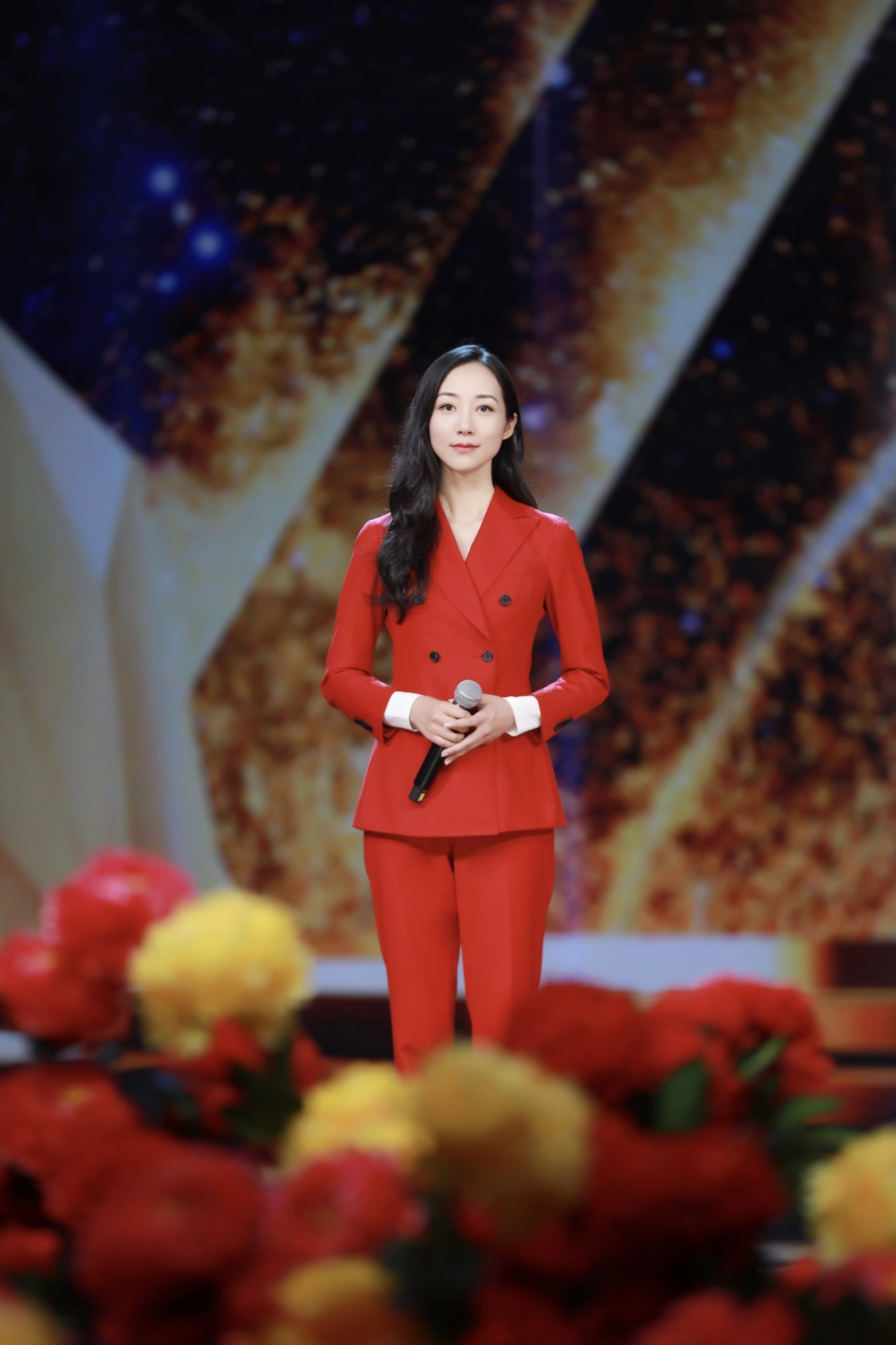 """韩雪参加央视""""中国梦·祖国颂""""2018国庆特别节目录制"""