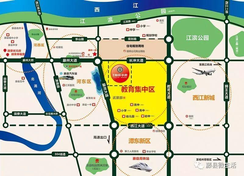 藤县教育集中区规划图