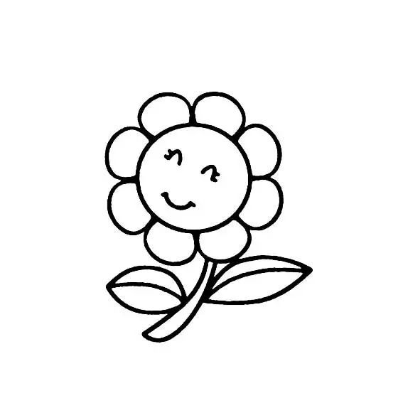 花朵简笔画,高清花朵简笔画图片免费下载 简笔画 优宝吧