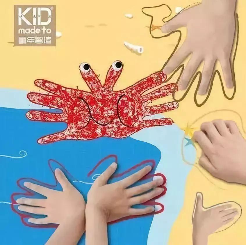 有趣的手形手工制作教程,小手玩出大创意!