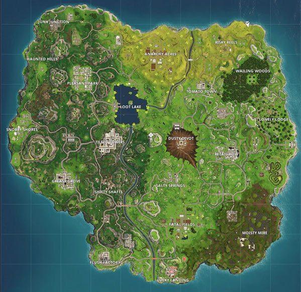 堡垒之夜手游全新地图各区域资源刷新位置大全图片