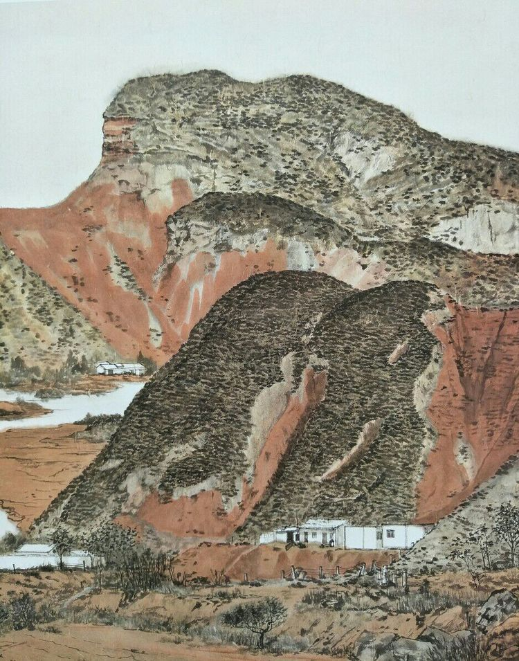 畫家張雨美協國展獲獎入選作品圖片