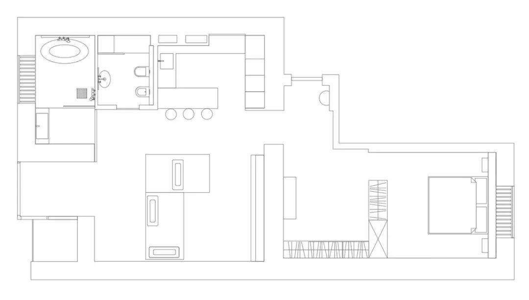 手绘沙发组合平面彩图