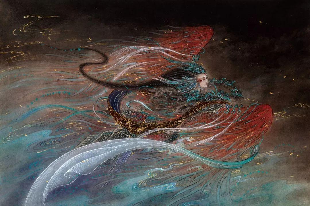 而今杉泽笔下的《观山海》用数百幅手绘插图展现了上古神秘世界,经过