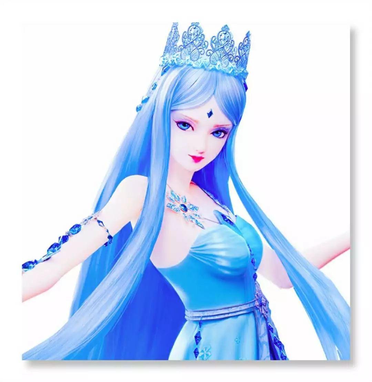 叶罗丽 冰公主的5种 色泽 ,深蓝色高贵,素描色可圈可点