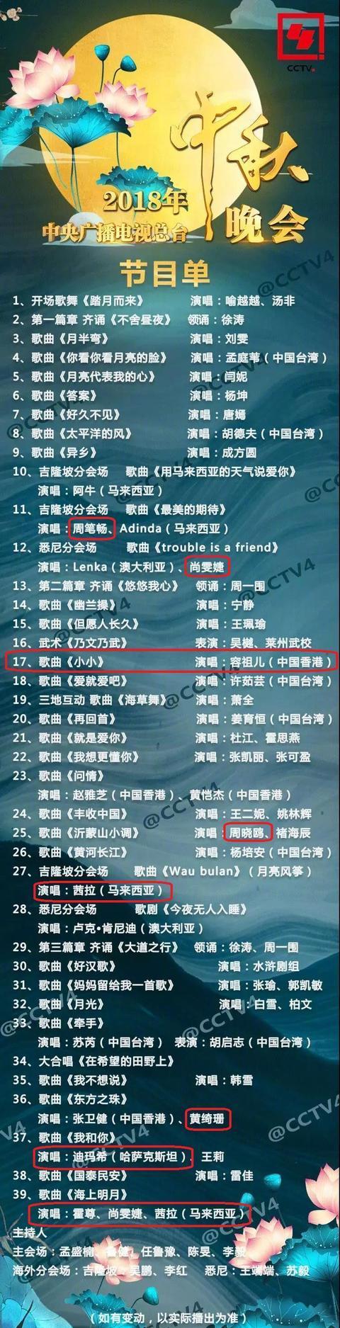 央视中秋晚会节目单:唐嫣成唯一流量,尚雯婕和周笔畅同台不同场