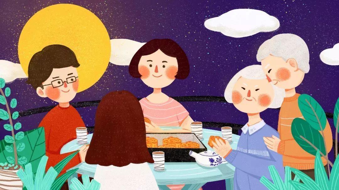中秋节自古便有吃月饼,赏桂花,饮桂花酒等习俗,流传至今,经久不息.图片