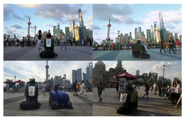"""机器人""""保洁员""""现身上海外滩、杭州银泰!背后原来是高仙机器人"""