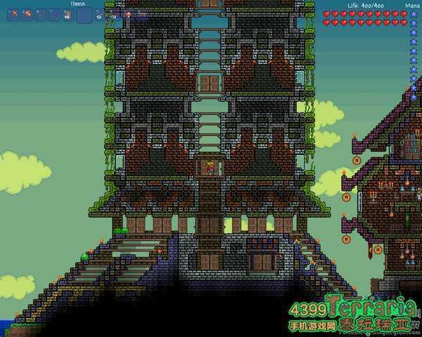 第七套房子设计图:这是高楼大厦,可不要错看成是火箭了.