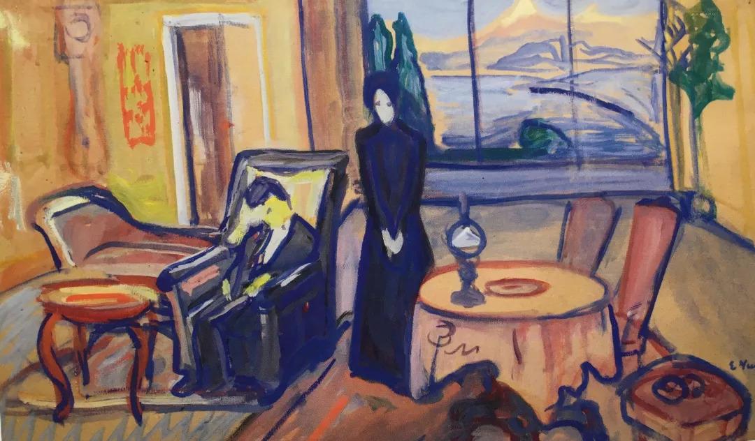 斯绘画_现代表现主义绘画国际先驱人物 | 蒙克