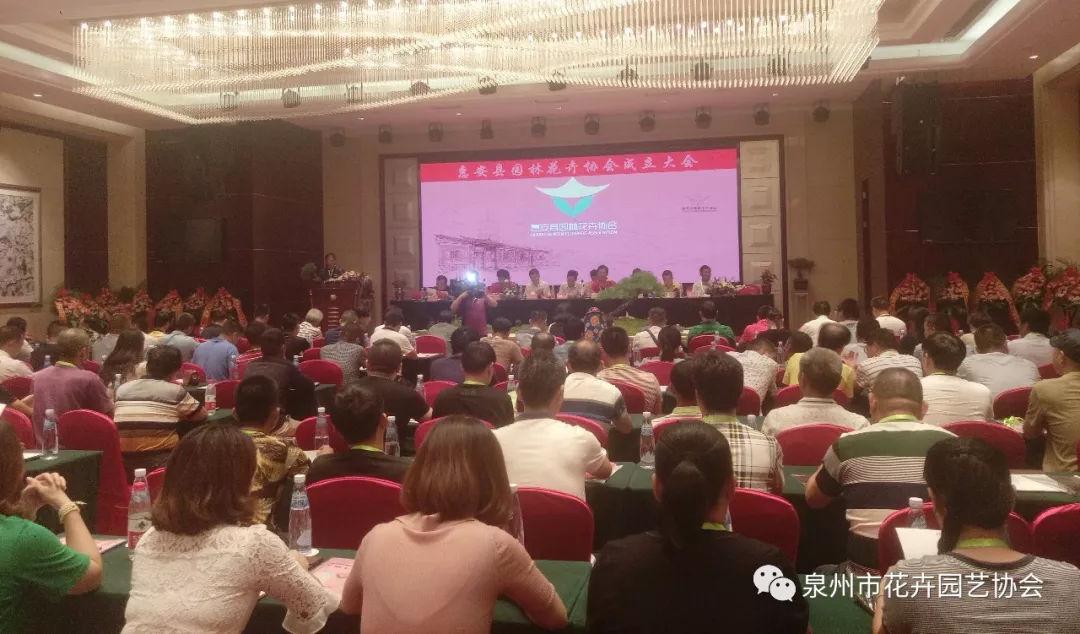 热烈六合彩图惠安县园林花卉协会成立大会胜利召开